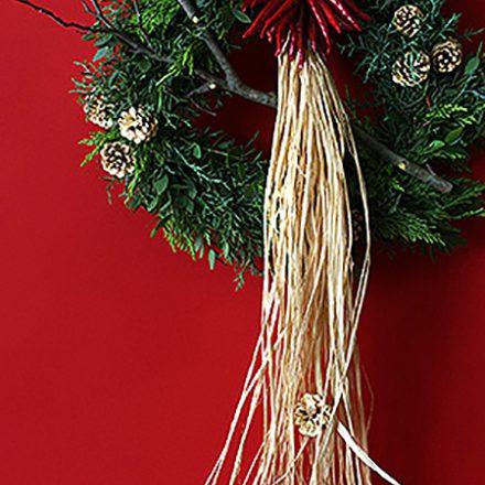 ナチュラル素材のクリスマス リース作り