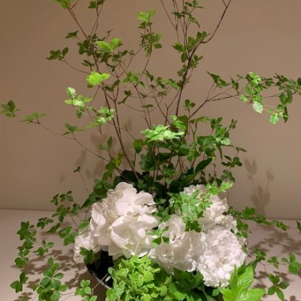 夏の和スタイルアレンジメント (生花)