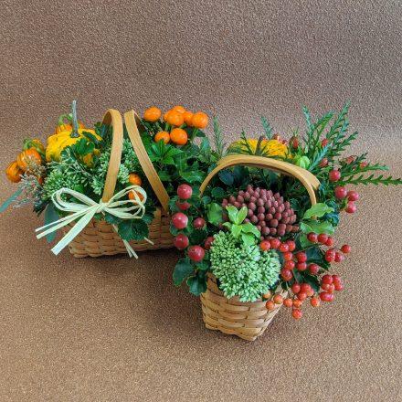 秋の実物を使ったアレンジメント作り